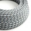 Hedvábný textilní elektrický kabel, RX04 pixelovaný ledový