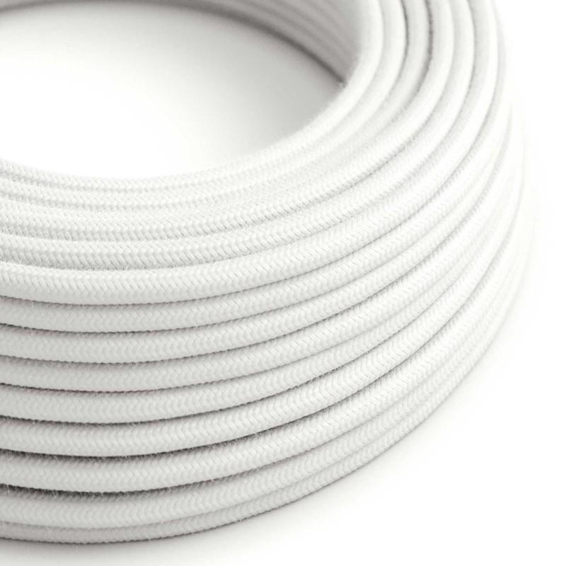 Bavlněný textilní elektrický kabel, RC01 Bílý