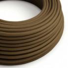 Bavlněný textilní elektrický kabel, RC13 Hnědý