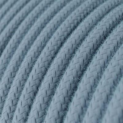 Bavlněný textilní elektrický kabel, RC53 barvy oceánu