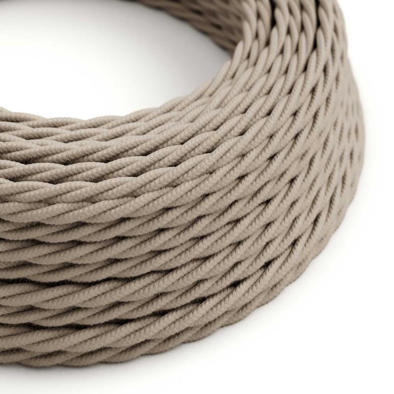 Splétaný bavlněný textilní elektrický kabel, TC43 barvy holubice