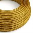 Hedvábný textilní elektrický kabel - třpytivý efekt - RL15 Zlatý