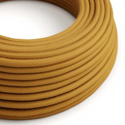 Bavlněný textilní elektrický kabel, RC31 Medově zlatý