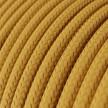 Hedvábný textilní elektrický kabel, RM25 Hořčicový