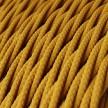 Splétaný hedvábný textilní elektrický kabel, TM25 Hořčicový