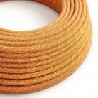 """Bavlněný textilní elektrický kabel, RX07 """"Indian summer"""""""