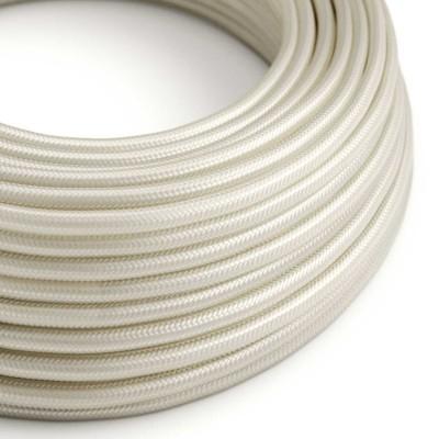 Hedvábný textilní elektrický kabel, RM00 Slonovinový