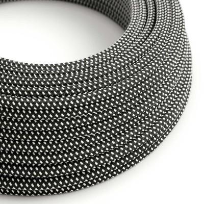 """Hedvábný textilní elektrický kabel s 3D efektem RT41 """"Stars"""""""