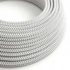 """Hedvábný textilní elektrický kabel s 3D efektem RT14 """"Stracciatella"""""""