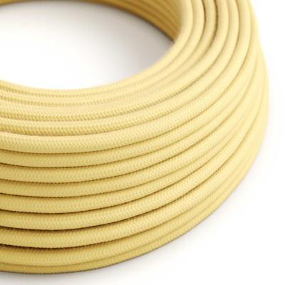 Bavlněný textilní elektrický kabel, RC10 Bledě žlutý