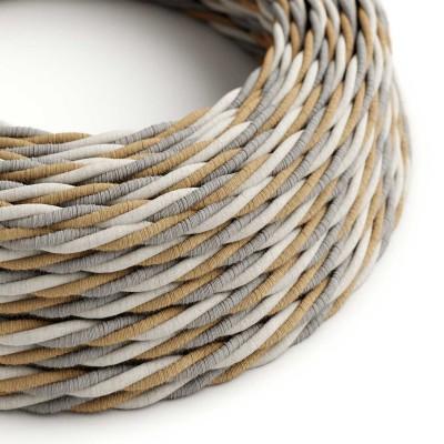 """Splétaný textilní elektrický kabel opředený bavlnou, jutou a lnem TN07 """"Country"""""""
