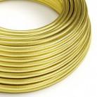 Elektrický kabel 100% opředený mědí mosazné barvy