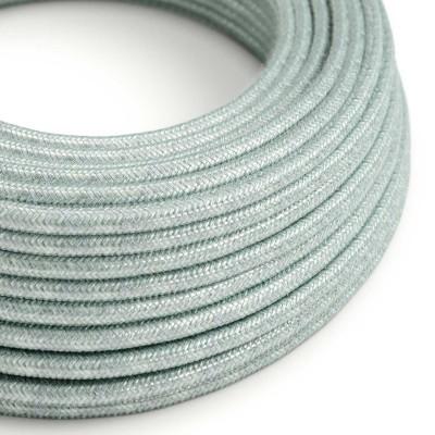 Bavlněný textilní elektrický kabel - Dýmově modrý RX12