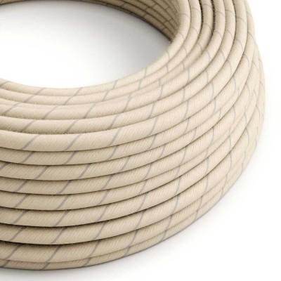 Textilníelektrický kabel s pruhy pokrytý balvnou and lnem Vertigo ERD23 - obilná