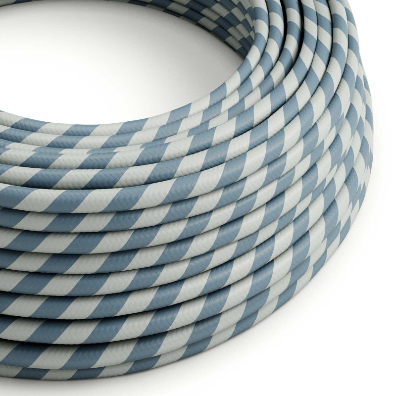 Textilní elektrický HD kabel s pruhy Vertigo ERM40 - modrá a avio modrá