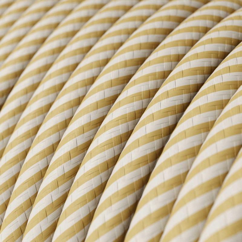 Textilní elektrický HD kabel s pruhy Vertigo ERM53 - krémová a oříšková