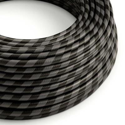 Textilní elektrický HD kabel se širokými pruhy Vertigo ERM54 - černá a grafit