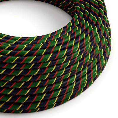 Kulatý elektrický HD kabel s pruhy Vertigo ERM62 Mr Smith - žlutá, červená, zelená, modrá
