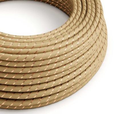 Textilní elektrický kabel pokrytý jutou a měděným vláknem Vertigo ERR04