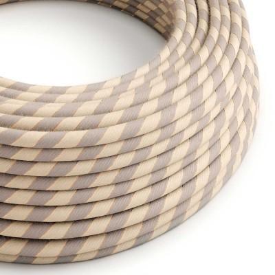 Textilní elektrický kabel pokrytý bavlnou a lnem s měděným vláknem Vertigo ERR05