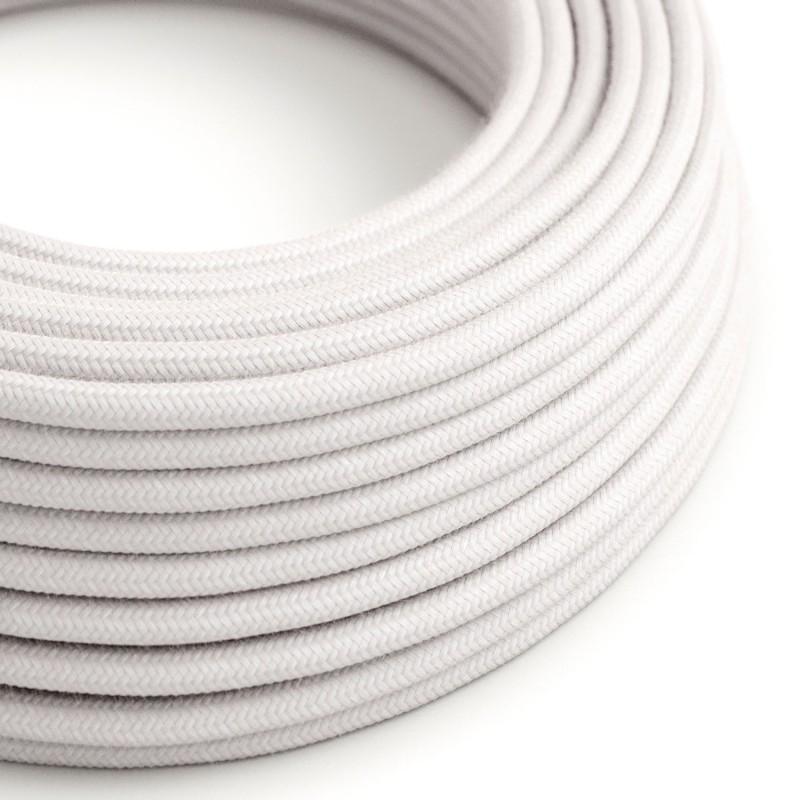 Bavlněný textilní elektrický kabel, RC16 světle růžový