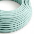 Bavlněný textilní elektrický kabel, RC18 zelený Celadon