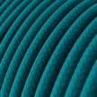 Bavlněný textilní elektrický kabel, RC21 modrý Cerulean