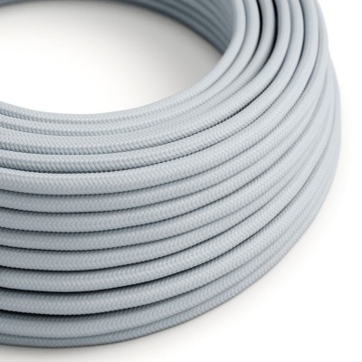 Hedvábný textilní elektrický kabel, RM30 světlý modro-šedý