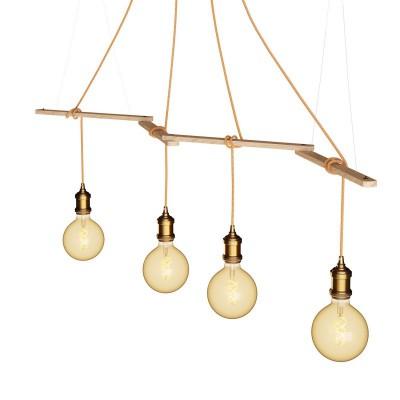 Zigh-Zagh, nastavitelná dřevěná stropní konzola pro závěsné lampy