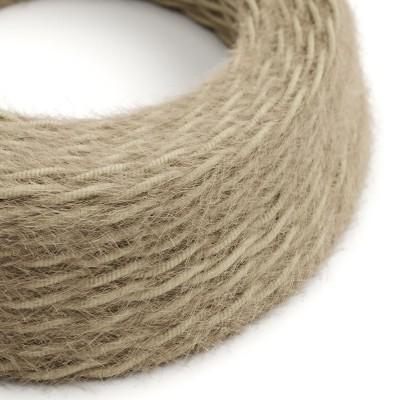 Burlesque spirálový textilní elektrický kabel s chlupatým efektem TP13 Hnědý
