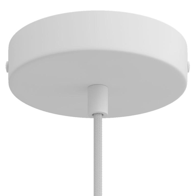 Závěsné svítidlo s textilním kabelem, objímkou S14d Syntax® s kovovými detaily - Vyrobeno v Itálii
