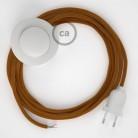 """Napajecí kabel pro stojící lampu, RM22 """"Whisky"""" hedvábný 3 m. Vyberte si barvu vypínače a zástrčky."""