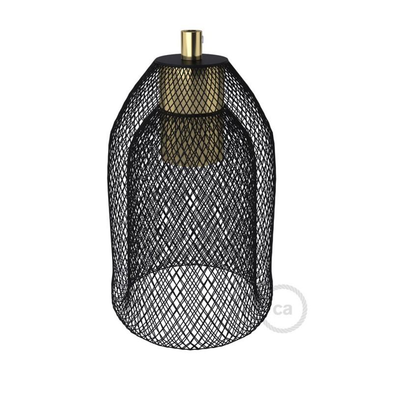 Kovové klecové stínidlo Ghostbell s objímkou E27