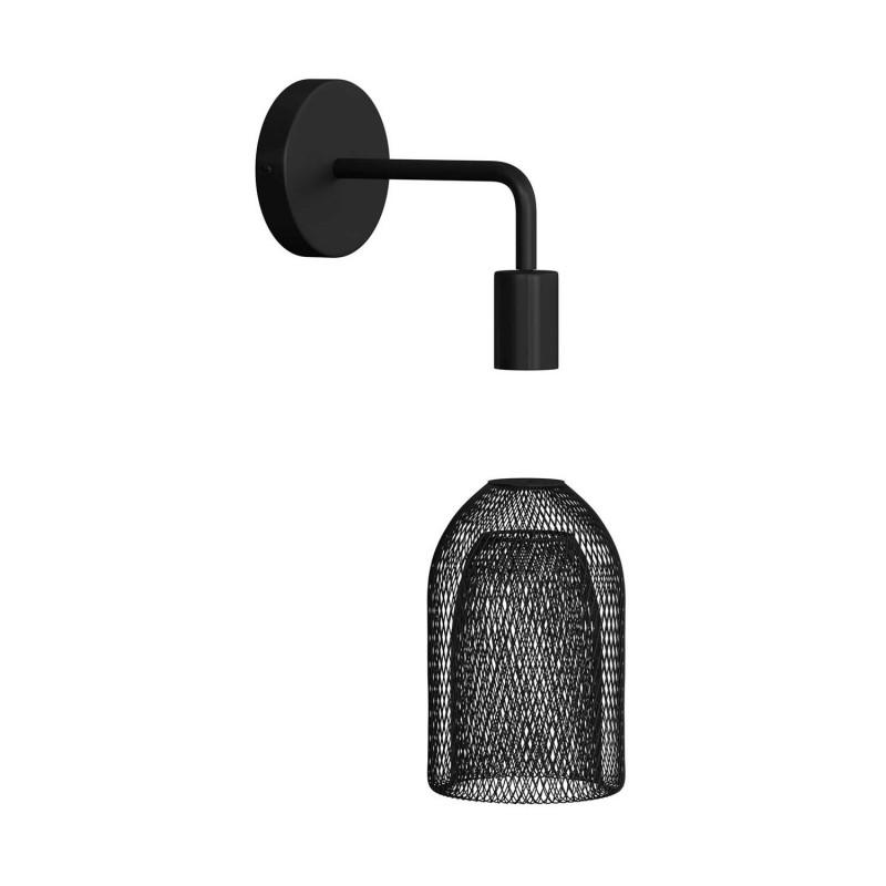 Fermaluce Urban kovové nástěnné svítidlo se stínidlem Ghostbell a ohnutou prodlužovací trubičkou