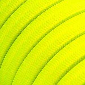 Textilní elektrický kabel pro světelný řetěz, pokrytý textílií z umělého hedvábí - Neonově žlutý CF10