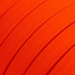 Textilní elektrický kabel pro světelný řetěz, pokrytý textílií z umělého hedvábí - Neonově oranžový CF15