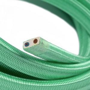 Textilní elektrický kabel pro světelný řetěz, pokrytý textílií z umělého hedvábí - Opálový CH69