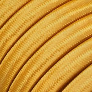 Textilní elektrický kabel pro světelný řetěz, pokrytý textílií z umělého hedvábí - Zlatý CM05
