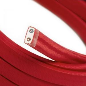 Textilní elektrický kabel pro světelný řetěz, pokrytý textílií z umělého hedvábí - Červený CM09
