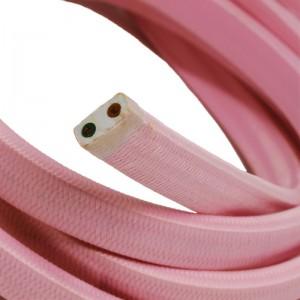 Textilní elektrický kabel pro světelný řetěz, pokrytý textílií z umělého hedvábí - Růžový CM16