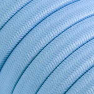 Textilní elektrický kabel pro světelný řetěz, pokrytý textílií z umělého hedvábí - Azurový CM17