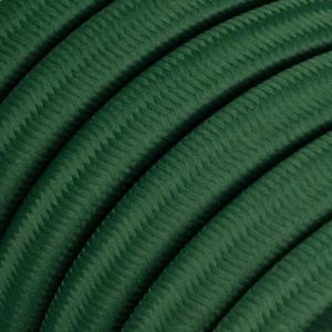 Textilní elektrický kabel pro světelný řetěz, pokrytý textílií z umělého hedvábí - Tmavě zelený CM21