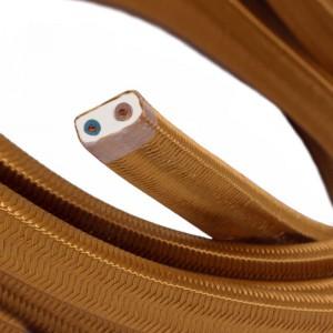 """Textilní elektrický kabel pro světelný řetěz, pokrytý textílií z umělého hedvábí - """"Whisky"""" CM22"""