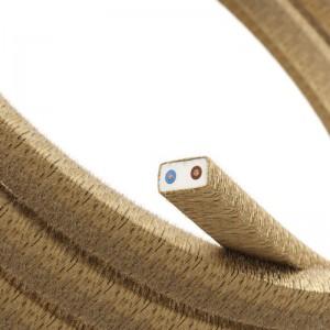 Textilní elektrický kabel pro světelný řetěz, pokrytý textílií z juty CN06
