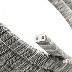 Textilní elektrický kabel pro světelný řetěz, pokrytý bavlnou - CC37 černá Mélange