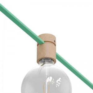 Dřevěná objímka s příslušenstvím pro světelné řetězy a Filé System. Vyrobená v Itálii