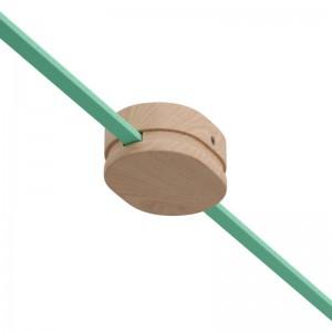 Ovální dřevěný stropní baldachýn se 2 bočními otvory pro světelné řetězy a Filé systém. Vyrobeno v Itálii.