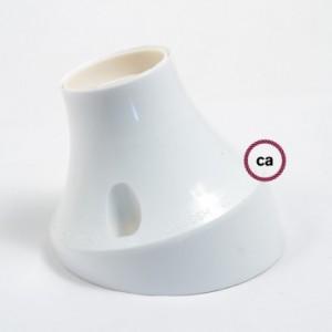 Objímka z termoplastu na stěnu nebo strop se sklonem 45°
