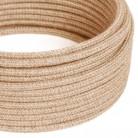 Textilní elektrický kabel opředený jutou, RN06