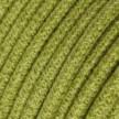 Kulatý textilní elektrický kabel opletený jutou RN23 zelený